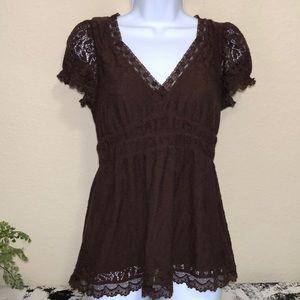 Ric Rac women's brown short sleeve top